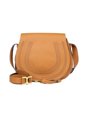 Chloé Women's Medium Marcie Leather Saddle Bag In Tan