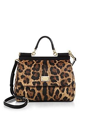 34cc5e8841d5 Dolce   Gabbana - Medium Sicily Leopard Print Satchel - saks.com