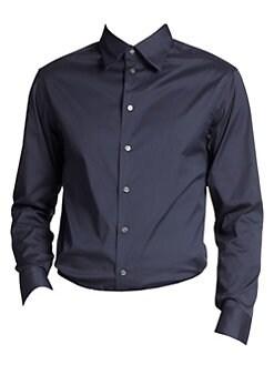 a1e126fbd0c QUICK VIEW. Armani Collezioni. Solid Stretch Button-Down Shirt