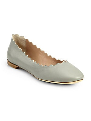 ed651f5cfffa See by Chloé - Jane Leather Ballet Flats - saks.com