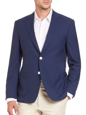 Saks Fifth Avenue  COLLECTION Samuelsohn Classic-Fit Wool Sportcoat