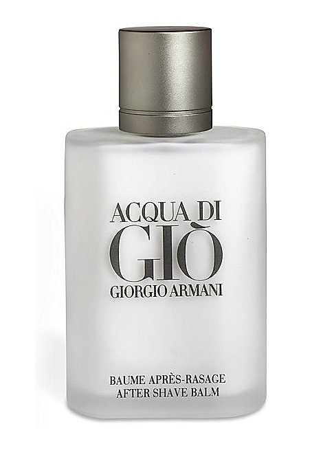 Image of Acqua di Gio After Shave Balm. An aromatic, woody, resolutely masculine fragrance. The essence of Giorgio Armani with marine notes, mandarin, bergamot, persimmon, jasmine, cedar, patchouli and Mediterranean cistus. 3.4 oz. Imported. Ask the experts. Our B