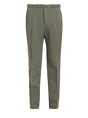 Image of A cool chino pant lends a striking finish to your next relaxed, off-duty ensemble. Featuring the brand's special Chinolino fabric, its a the perfect linen and cotton blend to keep you cool and comfortable, while keeping the shape of the pant. Modern Fit F