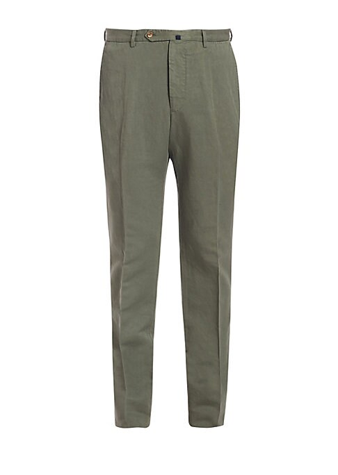 Image of A cool chino pant lends a striking finish to your next relaxed, off-duty ensemble. Featuring the brand's special Chinolino fabric, its a the perfect linen and cotton blend to keep you cool and comfortable, while keeping the shape of the pant. Modern Fit.