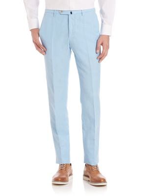 SLOWEAR Modern-Fit Chinolino Pants in Pastel Blue