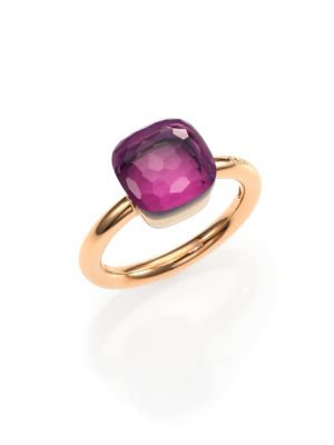 Pomellato Nudo Amethyst 18k Rose Gold Ring