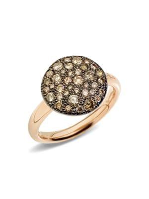 Pomellato Sabbia Brown Diamond 18k Rose Gold Ring