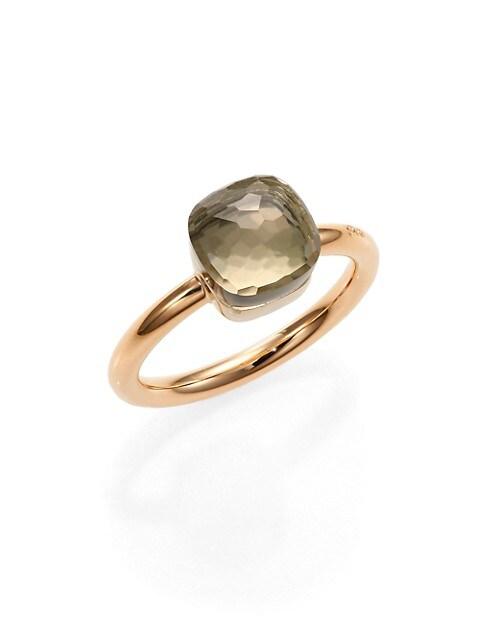 Nudo 18K Rose Gold & Prasiolite Petite Square Ring