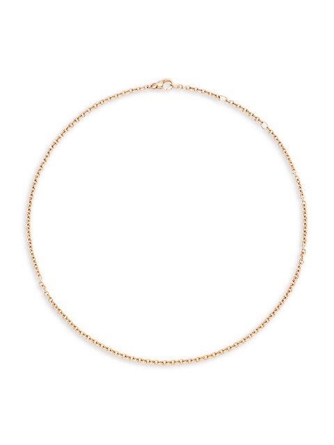 """Sabbia 18K Rose Gold Necklace Chain/16.5"""""""