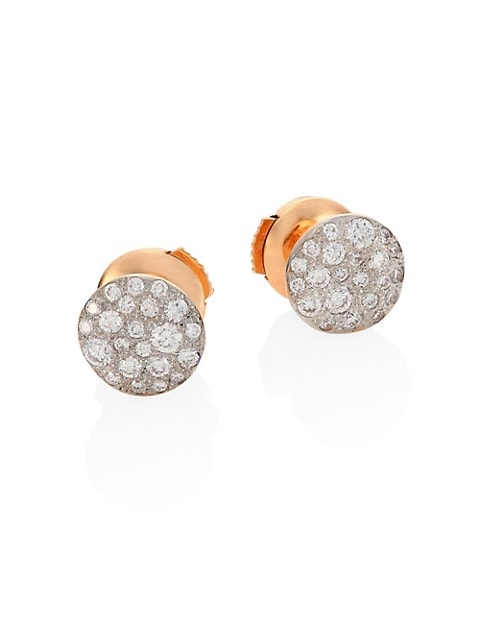 Sabbia Diamond & 18K Rose Gold Stud Earrings