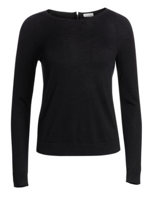 Elements Wool Zip Back Knit Top by Akris punto