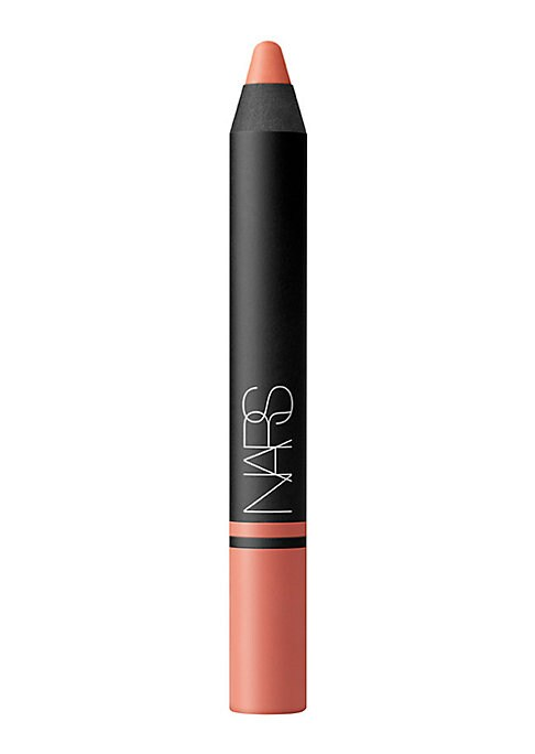 Image of This season, new NARS Satin Lip Pencil dresses up lips in statement shades that seduce with rich, color-bright pigments while drenching them in decadent moisture. 12 long-wearing, high-impact shades. Made in Italy. 0.07 oz.