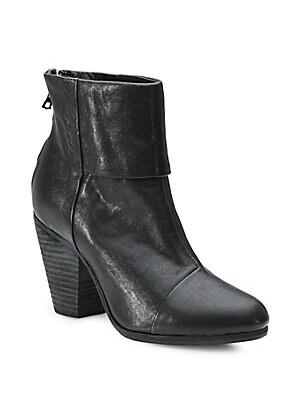 Charlotte 55 leather ankle boots | Saint Laurent