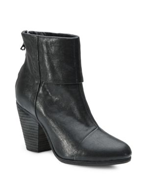 Newbury Leather Ankle Boots - Black Size 6.5