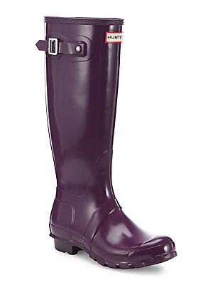 02d4309bbe5 Hunter - Refined Tall Gloss Rain Boots - saks.com