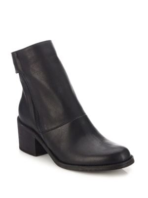 LD TUTTLE The Cave Leather Side-Zip Boots in Black