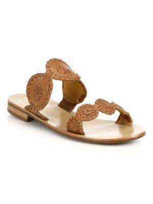 Lauren Double-Strap Sandal in Cognac