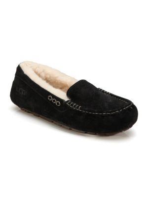 Women'S Ansley Suede Slippers in Black