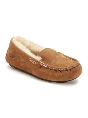 Ansley Chestnut Suede Slippers