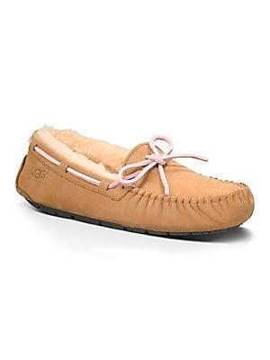 32ac0835677 Ugg - Women's Dakota Suede Shearling-Lined Slippers