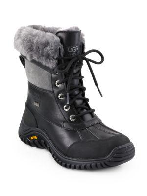 Ugg Leathers Adirondack II Lace-Up Shearling & Leather Boots