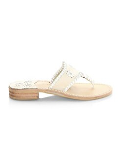 60d189384 Palm Whipsticthed Beach Sandal WHITE. QUICK VIEW. Product image. QUICK  VIEW. Jack Rogers
