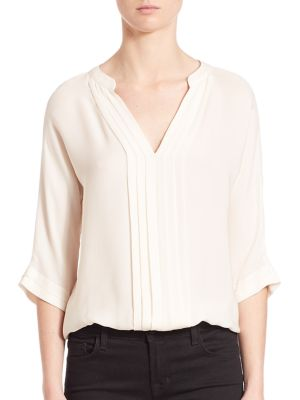 Marru Pleated Silk Blouse by Joie