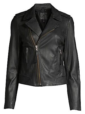 Joie Ailey Leather Jacket Saks Com
