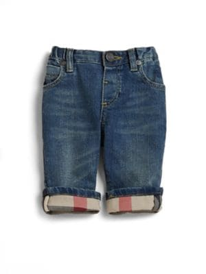 Baby's Check-Lined Jeans