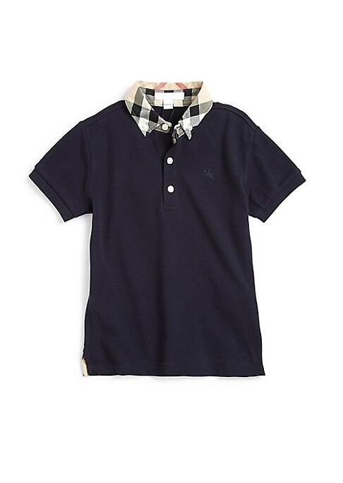 Little Boys  Boys William Check Collar Polo Shirt