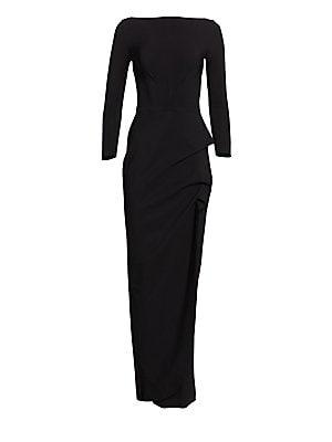 5c1027637fb St. John - Fine Sequin Tweed V-Neck Column Gown - saks.com