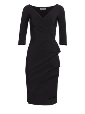 LA PETITE ROBE DI CHIARA BONI Florian Side Ruffle Dress in Black