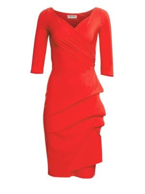 LA PETITE ROBE DI CHIARA BONI Florian Side Ruffle Dress in Red