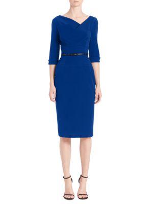 Jackie O Three-Quarter Sleeve Dress in Cobalt