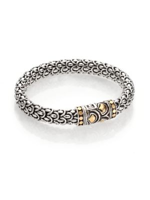 John Hardy Naga 18k Yellow Gold Amp Sterling Silver Chain Bracelet