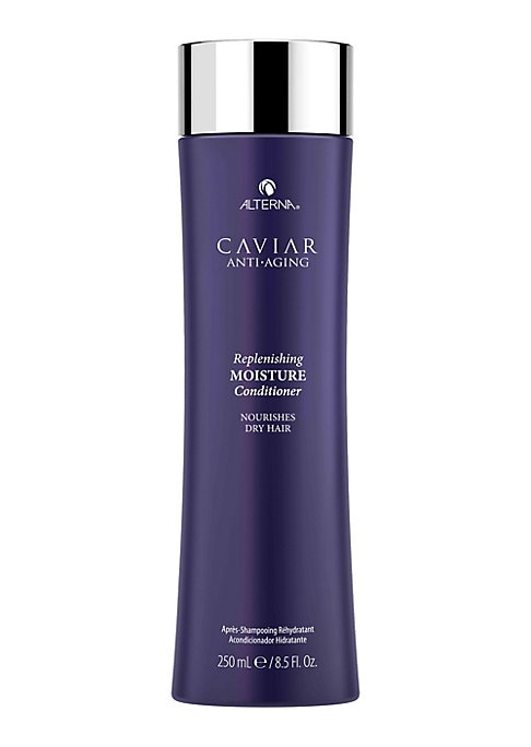 Image of CAVIAR Anti-Aging Replenishing Moisture Conditioner is a luxurious paraben-free conditioner that restores moisture while protecting hair from color fade, daily stresses and future damage. 8.5 oz.