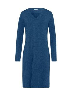 4b4dc5c070 Hanro Champagne Long-Sleeve Nightgown