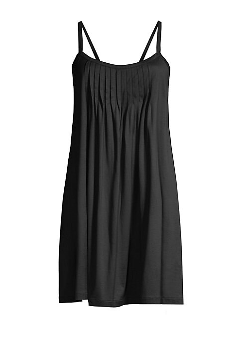 Image of .A breezy babydoll with a flared fit. .Scoopneck. .Sleeveless. .Pleated front. .Pullover style. .Mercerized cotton. .Machine wash. .Imported. .