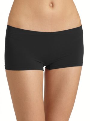 Touch Feeling Stretch-Jersey Boy Shorts in Black