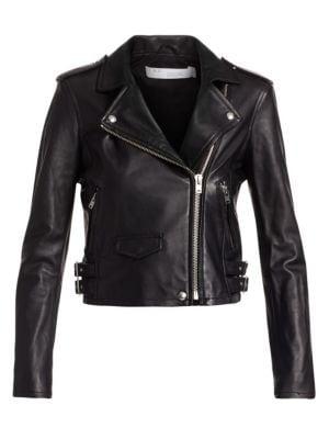 Ashville Leather Moto Jacket, Black