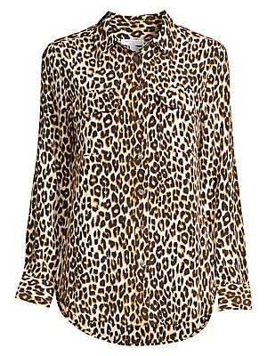077c6be4448380 Equipment - Slim Signature Silk Leopard Print Shirt
