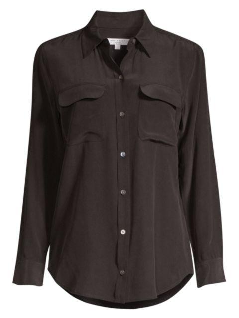 Equipment Slim Signature Silk Shirt | SaksFifthAvenue