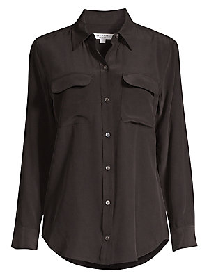 9bf1357f92e5cf Equipment - Slim Signature Silk Shirt - saks.com