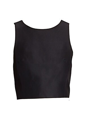 "Image of This sleek yet structured silk faille top is an elegantly polished, modern-minimalist anchor piece for high-waisted skirts. Sleeveless Exposed back zip Lined About 15"" from shoulder to hem Silk Dry clean Imported. Contemporary Sp - Contemporary Collection"