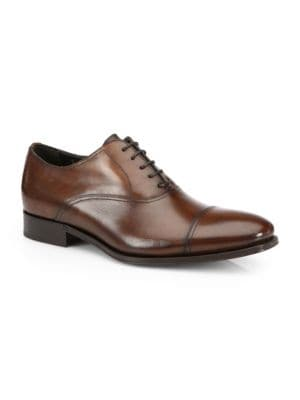 Aidan Leather Cap Toe Oxfords by To Boot New York