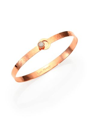 PHILLIPS HOUSE Love Always Diamond & 14K Rose Gold Hammered Bangle Bracelet