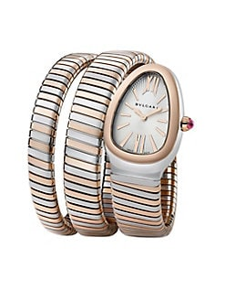 0dce1b7cd9a Product image. QUICK VIEW. BVLGARI. Serpenti Tubogas Rose Gold   Stainless  Steel Double Twist Watch