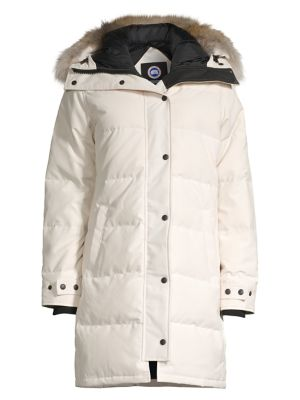 Shelburne Coyote Fur Trim Parka plus size,  plus size fashion plus size appare
