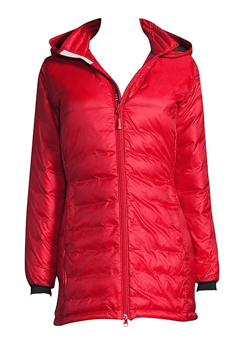 Image of A little longer in a light, lean shape, fashioned in ripstop nylon that's windproof, water-resistant and a true ally against winter. .Mid-thigh length with shirttail back for extra warmth. Down-filled, drawstring collar with brushed tricot lining offers e