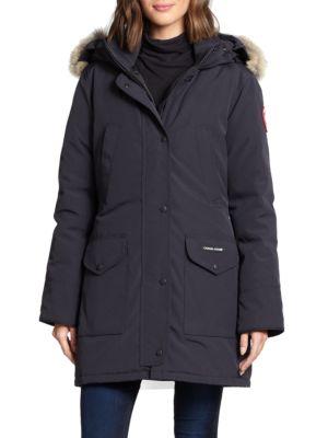 Trillium Fur-Trimmed Down Parka plus size,  plus size fashion plus size appare